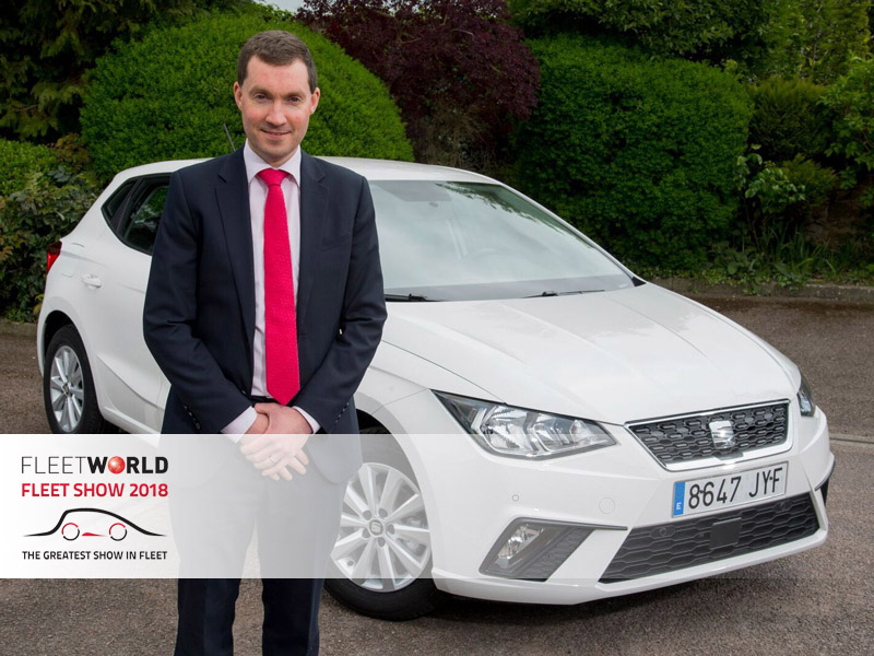 Peter McDonald, head of fleet & business sales, with a Seat Ibiza